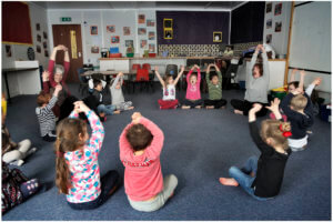 Pupil well-being with yoga